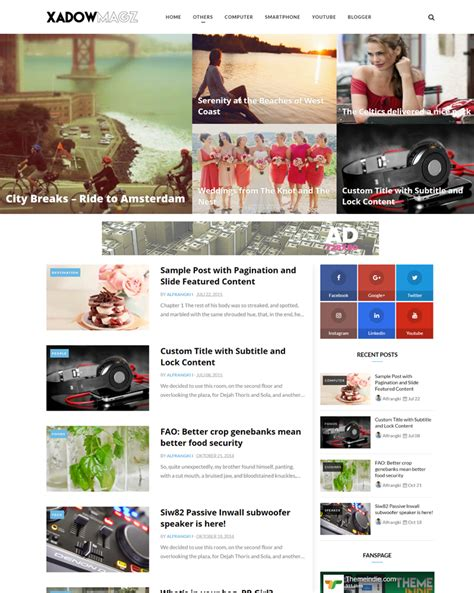 Xadowmagz Fully Responsive And Mobile Friendly Blogger Template Themeindie Com Mobile Friendly Templates