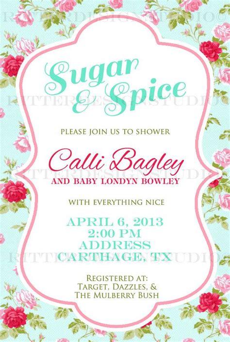 Shabby Chic Baby Shower Invitations by Shabby Chic Flower Baby Shower Invitation Printable