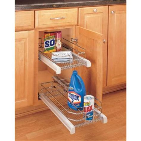 rev a shelf premiere small pull out chrome basket 5330