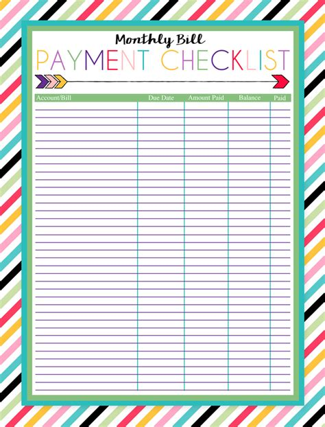 I Should Be Mopping The Floor Free Printable Monthly Bill Payment Checklist Free Bill Planner Template