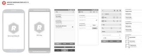 wireframe templates for android free android gui wireframe templates 2014