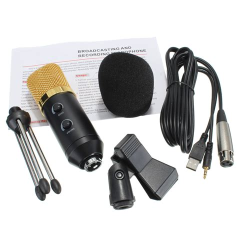Mic Vocal 228 pro audio dynamic usb condenser sound recording vocal microphone stand mount lazada malaysia