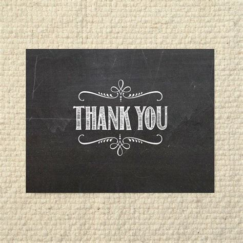chalkboard thank you card template diy thank you card handlettered chalkboard