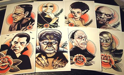 new school frankenstein tattoo traditional tattoo flash meets horror the art and