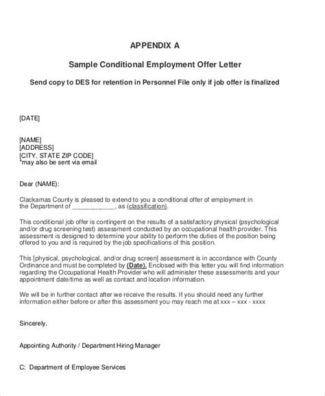 sample job appointment letter templates ms word