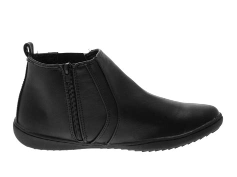 Comfortable Chelsea Boots by Womens Comfortable Flat Chelsea Gusset Faux Leather Ankle
