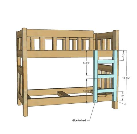 Ana White Build A C Style Bunk Beds For American Girl Baby Doll Bunk Bed Plans
