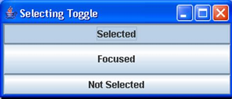 java swing toggle button simple togglebutton sle button 171 swing jfc 171 java