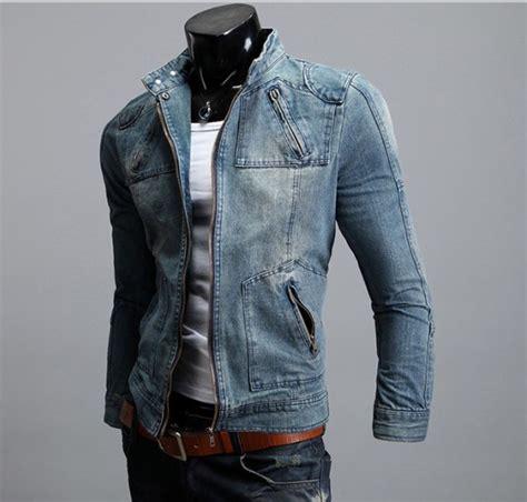 design jaket jeans mens casual jean jacket slim jean coat men top blue