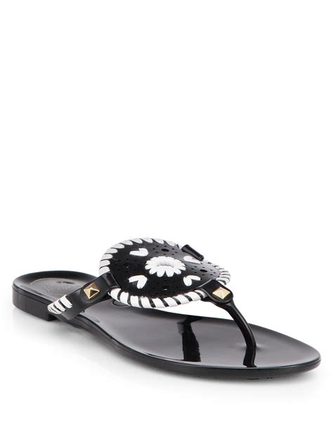 studded jelly sandals rogers studded jelly sandals in black black
