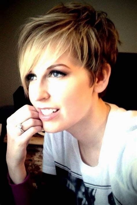 pixie hairstyle with longer sides feathered chic pixie with longer side bangs short