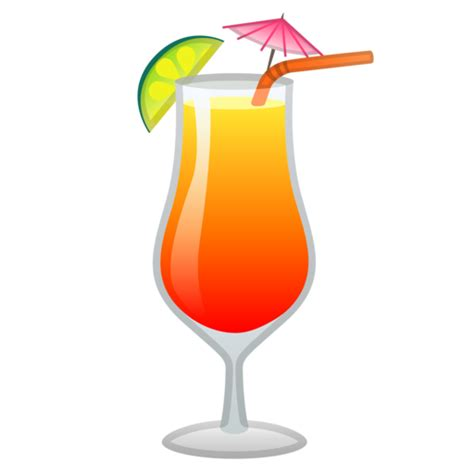 cocktail emoji bebida tropical emoji