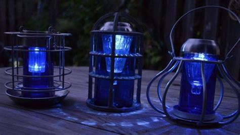 Blue Solar Lights Outdoor 33 Best Images About Solar Lights On Gardens Paint Pens And Glass Insulators