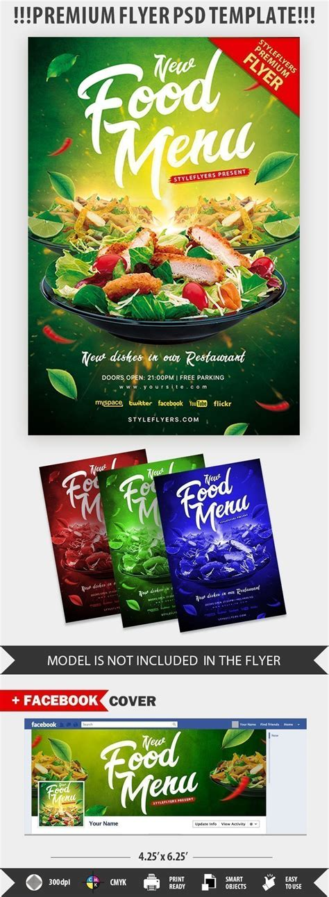 food template psd food menu psd flyer template 21197 styleflyers