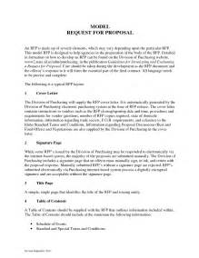 standard rfp template best photos of request for exle sle rfp