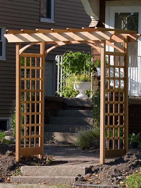 Arbor Backyard by Building A Simple Garden Arbor