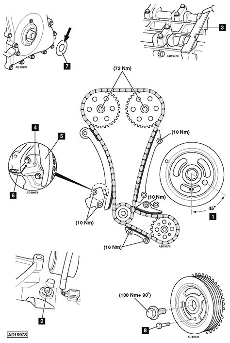 How to replace timing chains on Ford Focus 2.0i 2007-2011