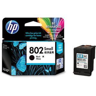 Cartridge Hp 802 Black Original 1 hp 802 small black ink cartridge available at shopclues for rs 559