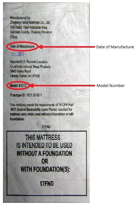Mattress Tags by Slumberworld Recalls Mattresses Due To Of