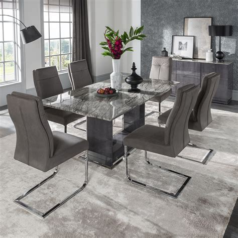 marble dining room table sets donatella marble high gloss 1 8m dining table wil donatella dt 1 8 163 741 00 f d brands