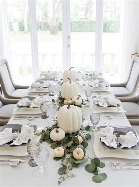Thanksgiving White Pumpkin Tablescape   Fashionable Hostess