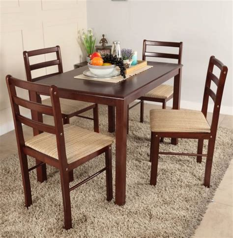 Emerald 6 Seater Glass Top Dining Set Woodys Furniture Woodness Solid Wood 4 Seater Dining Set Price In India Buy Woodness Solid Wood 4 Seater Dining