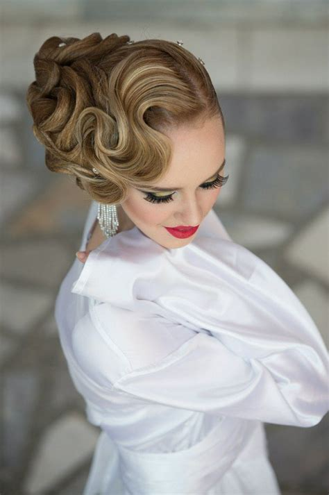girl style vintage curly hairstyles pretty designs