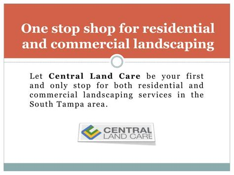 one stop landscaping ppt lawn service ta the leading south ta lawn maintenance provider powerpoint