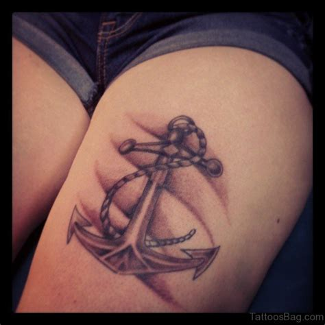 cool thigh tattoos fantastic anchor tattoos on thigh