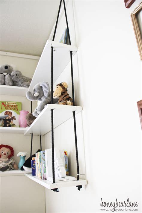Corner Rope Shelves Diy Honeybear Lane