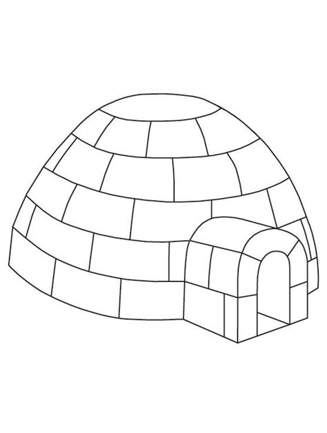 Coloring Page Igloo by Igloo Coloring Page Free Printable Igloo Coloring Page