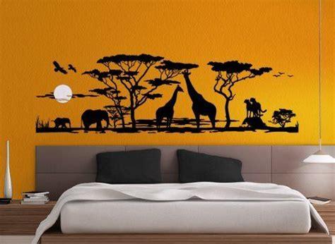 afrika schlafzimmer ideen grandora w683 wandtattoo afrika savanne tiere wohnzimmer