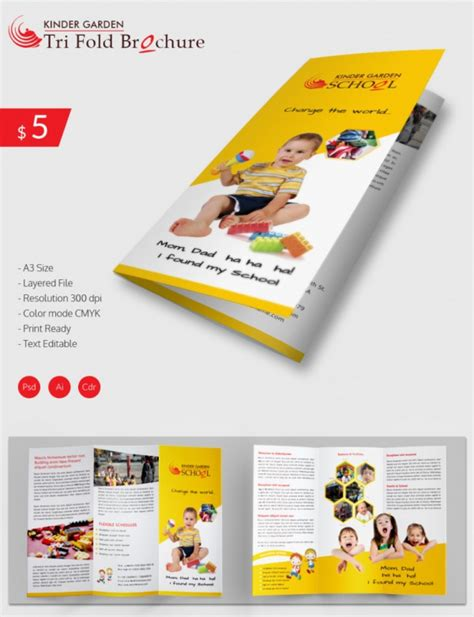 preschool brochure template 9 preschool brochures psd vector eps