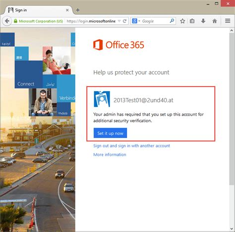 Office 365 Portal Adfs Atwork At Azure Multi Factor Authentication F 252 R