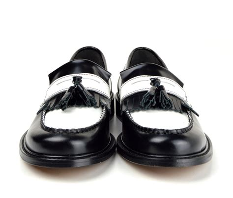 princes black white tassel loafers mod ska