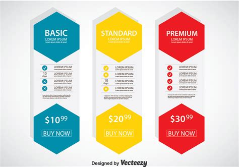 pricing tables template in flat design vector premium download pricing table flat design template vector download free
