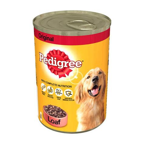 can dogs adhd pedigree original loaf food can 400g petpeople pk