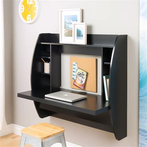 Black Wall Desk by Black Floating Wall Mounted Desk For From Beyond Furniture