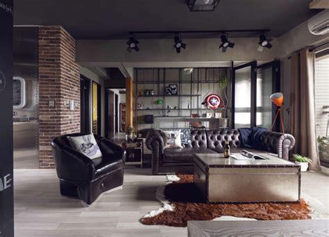 easy industrial interior design style ideas