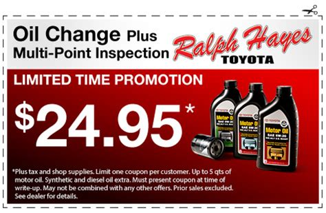 Toyota Change Specials Toyota Service Center Coupons