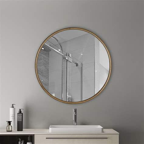 antique gold  wall mirror rustic accent mirror