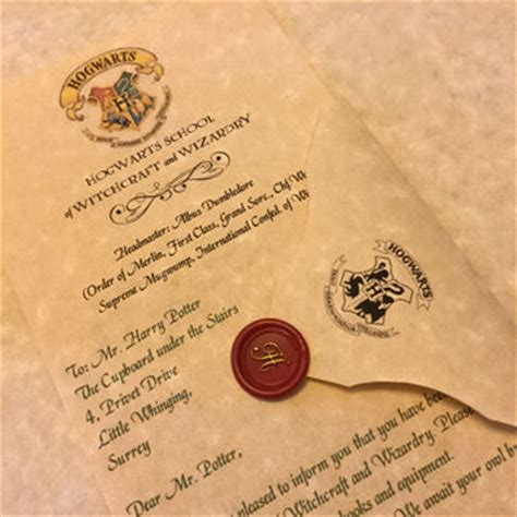 Hogwarts Acceptance Letter By Mail Best Hogwarts Acceptance Letter Products On Wanelo