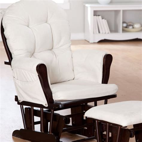 Storkcraft Bowback Glider And Ottoman Set To It Storkcraft Bowback Glider And Ottoman Set Espresso Beige 159 98 Baby
