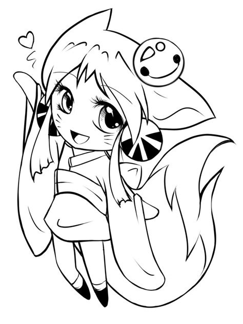 chibi fox coloring page chibi kitsune outs by yokufo on deviantart