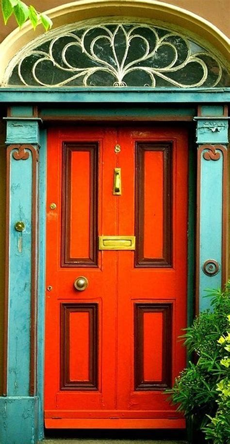 colorful door doors of latin america orange door paint pattern