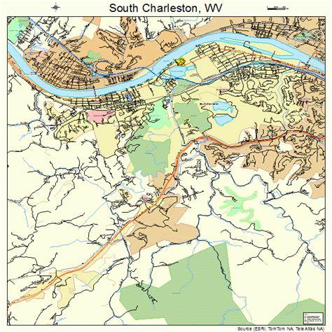 charleston wv map south charleston west virginia map 5475292