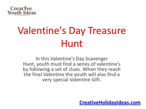 valentines scavenger hunt clues s day treasure hunt