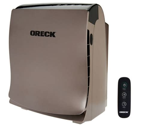 oreck airvantage plus hepa air purifier w voc filter remote v33955 qvc