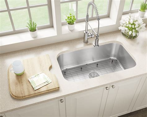 stainless steel kitchen sinks undermount single bowl kitchen sinks 32 quot berwick white