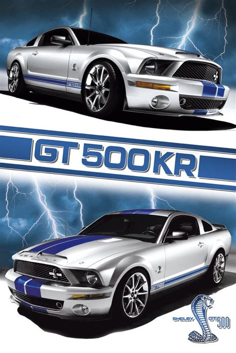 Mustang Auto Poster by Ford Shelby Mustang Gt 500 Poster Sold At Ukposters